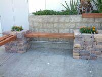 Corner bench. Just stack bricks, place wood... Decorate ...