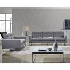 Gray Fabric Sofa Set Best Quality Leather Bed Angela Grey Modern And Loveseat By Us