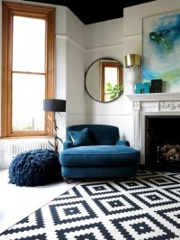Navy Blue Rug Living Room