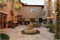 Patio-Mediterranean-San-Diego-courtyard-Fireplace ...