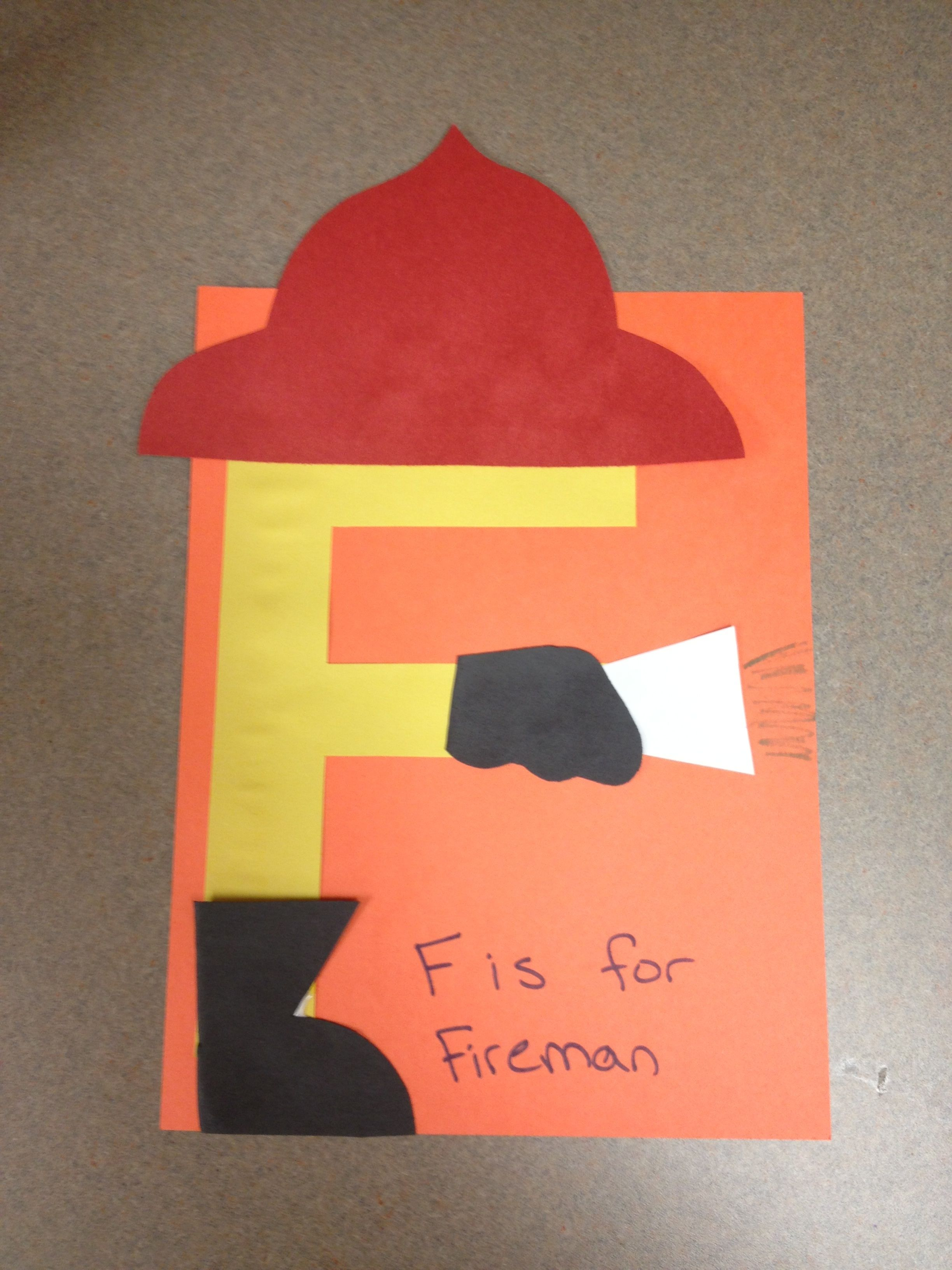 Letter F Is For Fireman