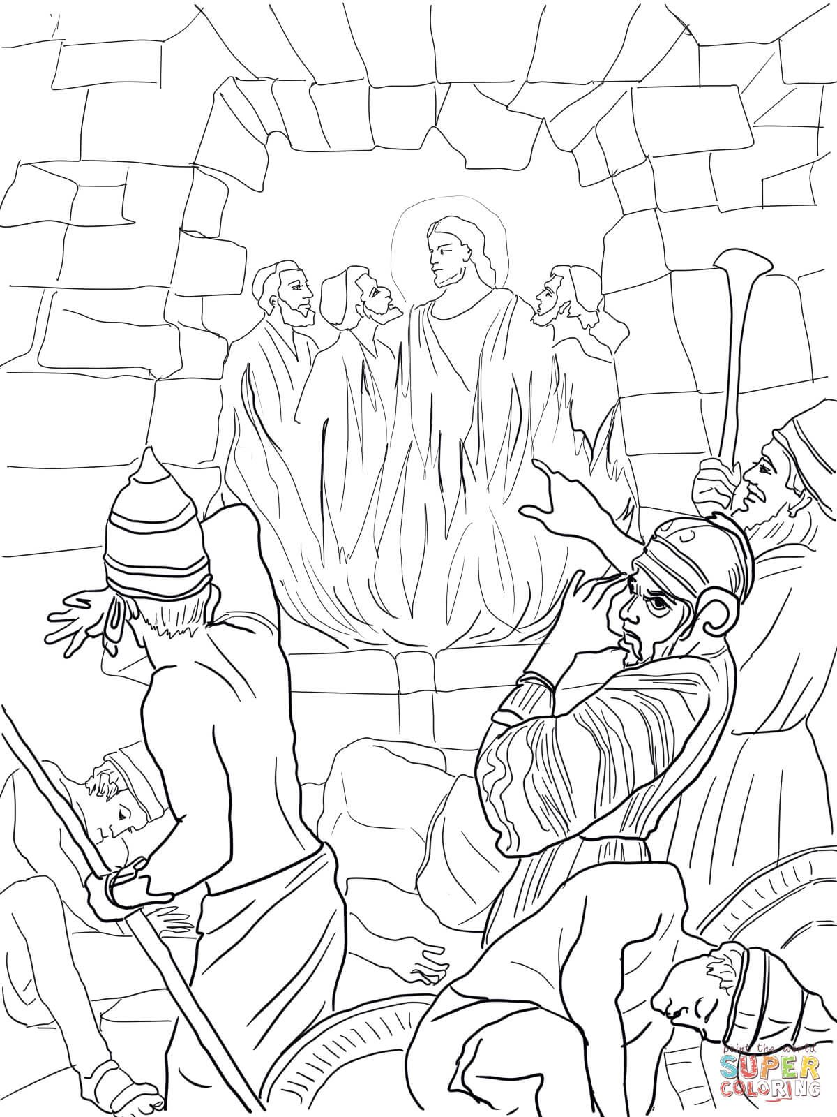 Shadrach, Meshach and Abednego in the Fiery Furnace