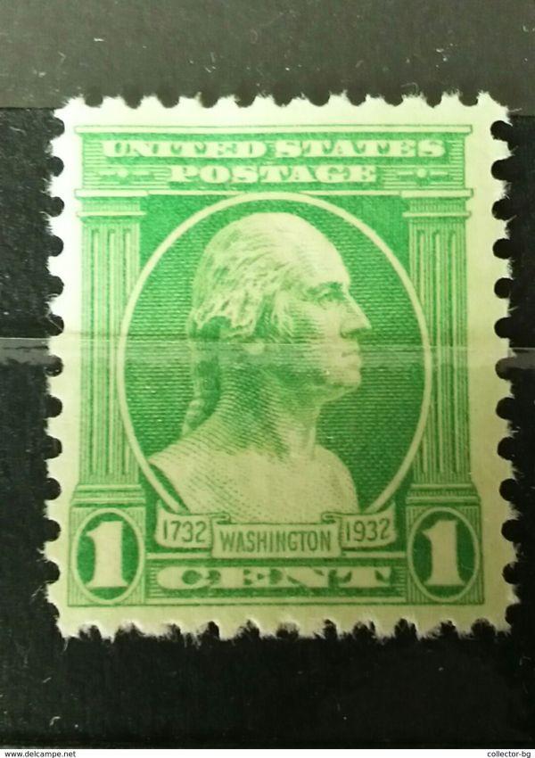 Rare 1 Cent Postage Washington 1732-1932 Unused Mint