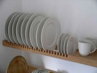 kitchen plate rack is an extension of the solid beech ...