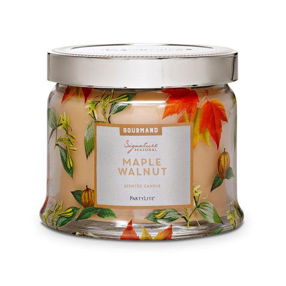 Maple Walnut 3Wick Jar Candle Seasonal Fragrances MY