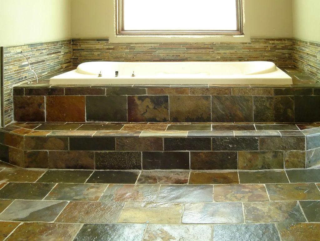 Shower Tile Slate Tile Bath Floor Tile Tub Surround Design 2013