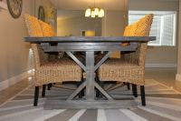 farmhouse table and chairs for 8 | Weathered Gray Fancy X ...