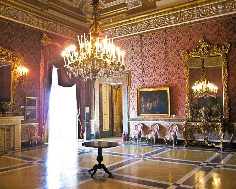 Interior of Royal Palace  Naples Italy  Style