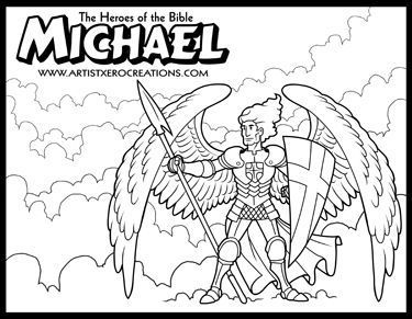 The Heroes of the Bible Coloring Pages: Michael (Daniel 10
