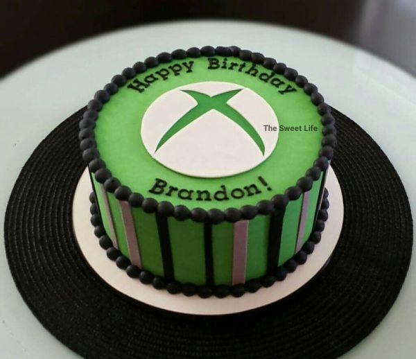 Xbox Themed Birthday Cake