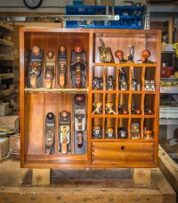 Mahogany Plane Till, plane cabinet, tool storage, woodshop ...