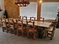 Aspen Lodge Log Dining Table | Rustic furniture, Aspen and ...