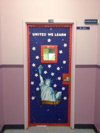 My new patriotic classroom door - I love the 'united we ...