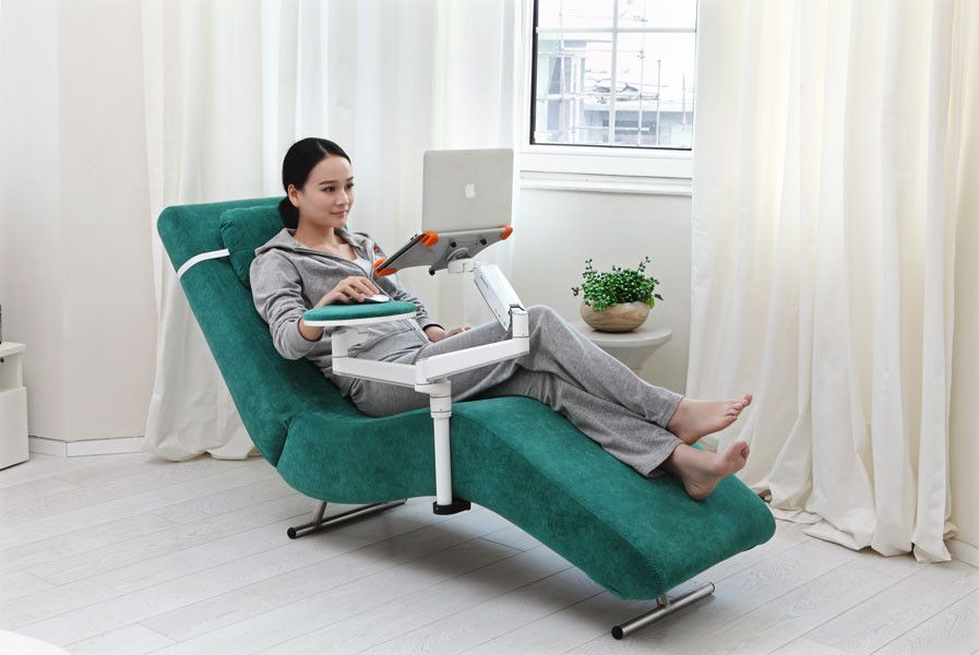 good posture lounge chair padmas plantation ergonomic recliner with laptop and tablet arms (ec04) | home office pinterest