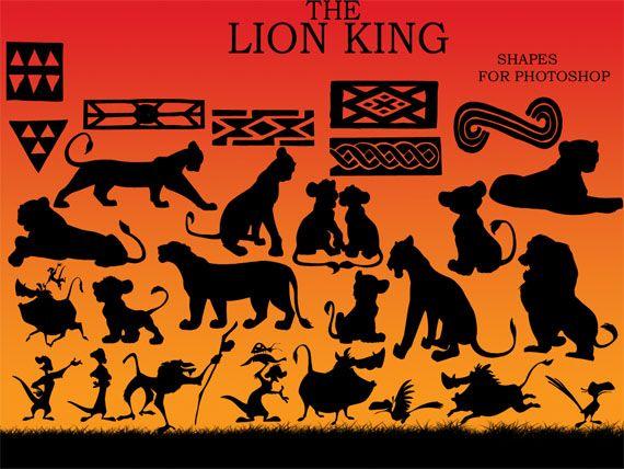 King Nala Lion Silhouette