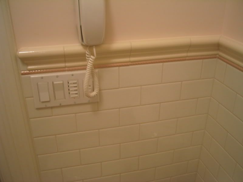 chair rail tile inside corner