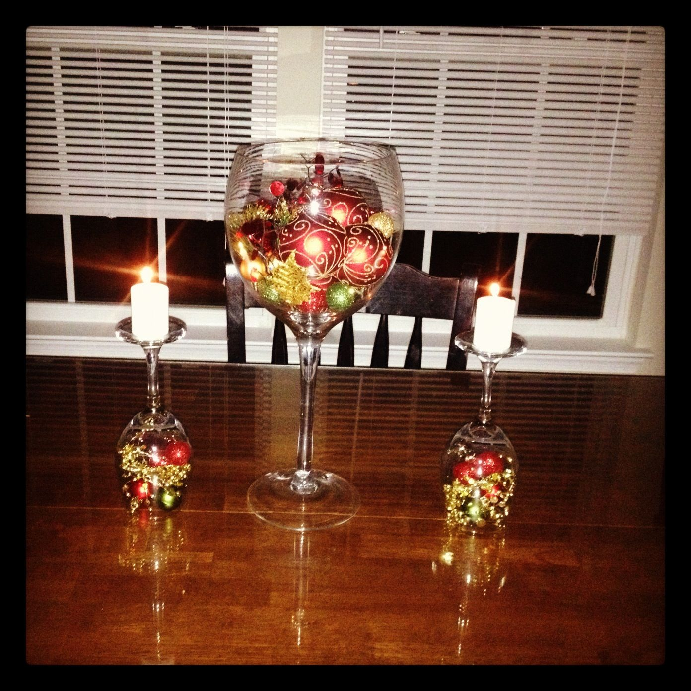 grape decor for kitchen lantern lighting wine glass center piece to stick with my theme