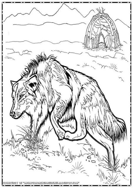 This time I want to share wolf adult coloring pages. In