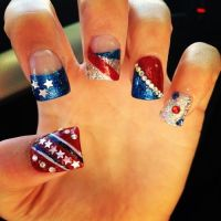patriotic acrylic nail designs - Google Search | Nail ...