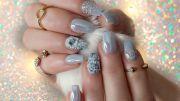 unicorn opal chrome nails 3d