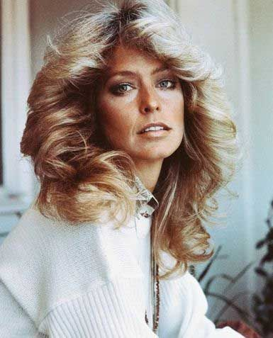 6 Hair Idols From The 70s Farrah Fawcett's Feathered Frock