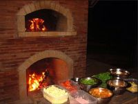 Outdoor fireplace and pizza oven combination | Outdoor ...
