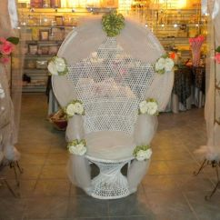 Bridal Shower Chair Rental Office Leg Rest Decorating A Peacock Wicker Of