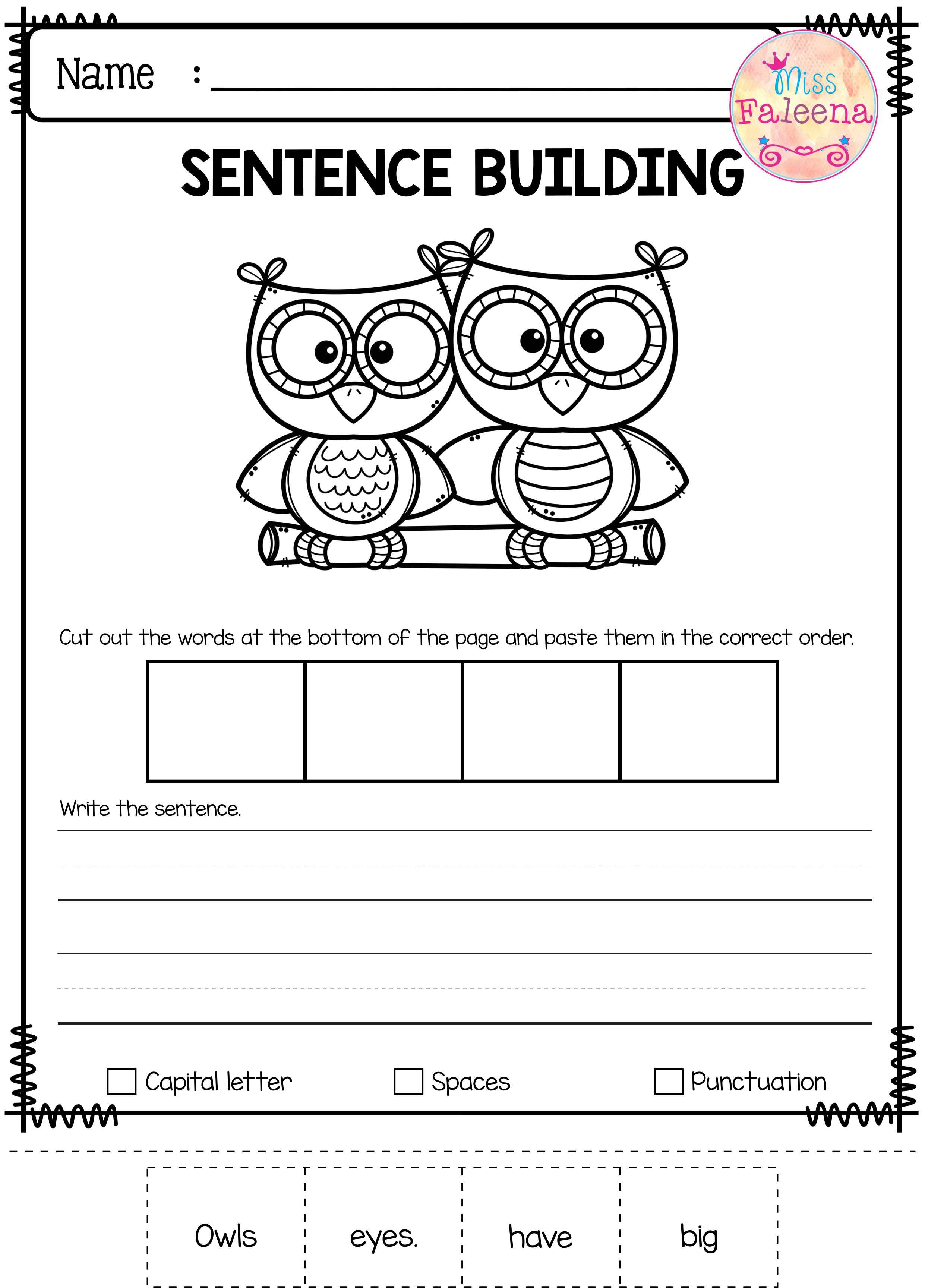 Skill Building Worksheets