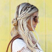 Love this braid look. Great festival hair. Blonde ...