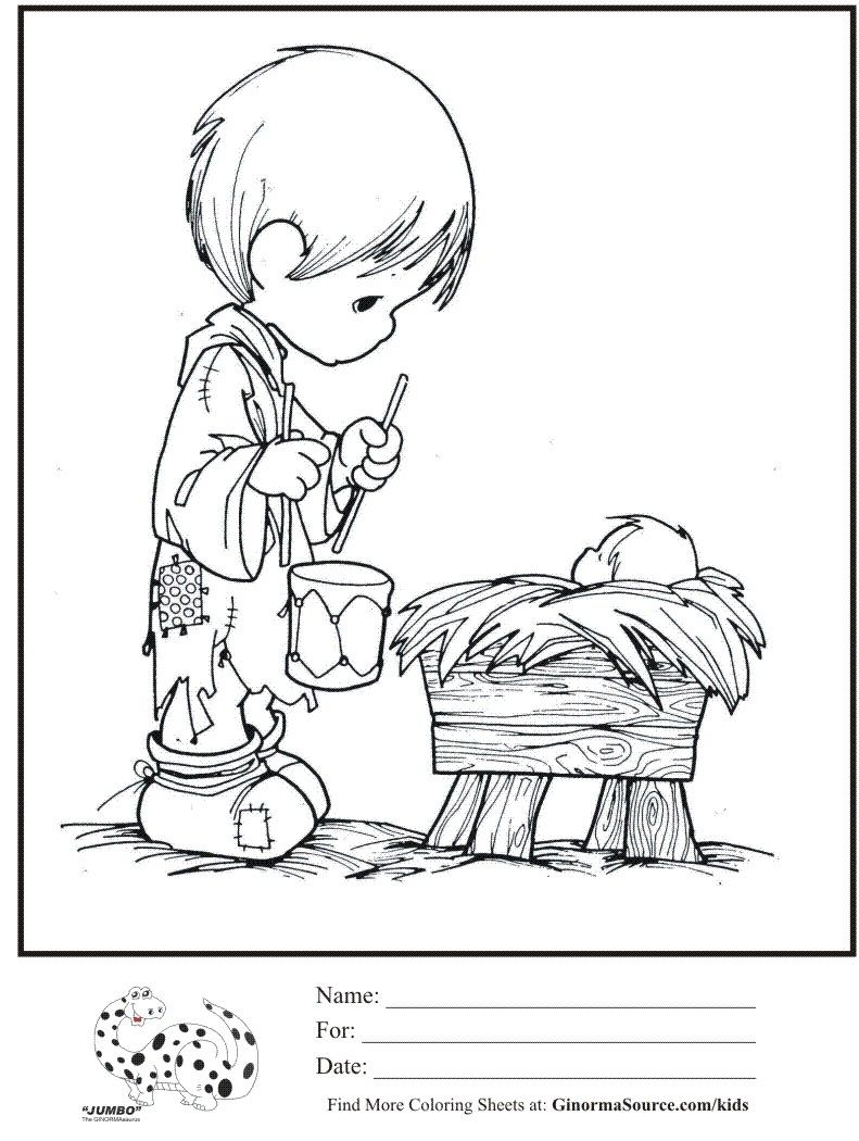 kids-coloring-page-precious-moments-little-drummer-boy