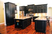 Black distressed cabinets | Our Custom Built Kitchens ...