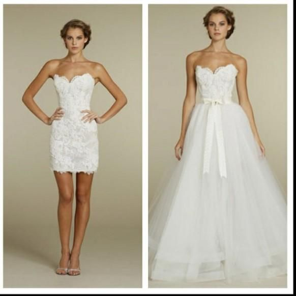 2 In 1 Brautkleider ♥ Chic Special Design Brautkleid #803010