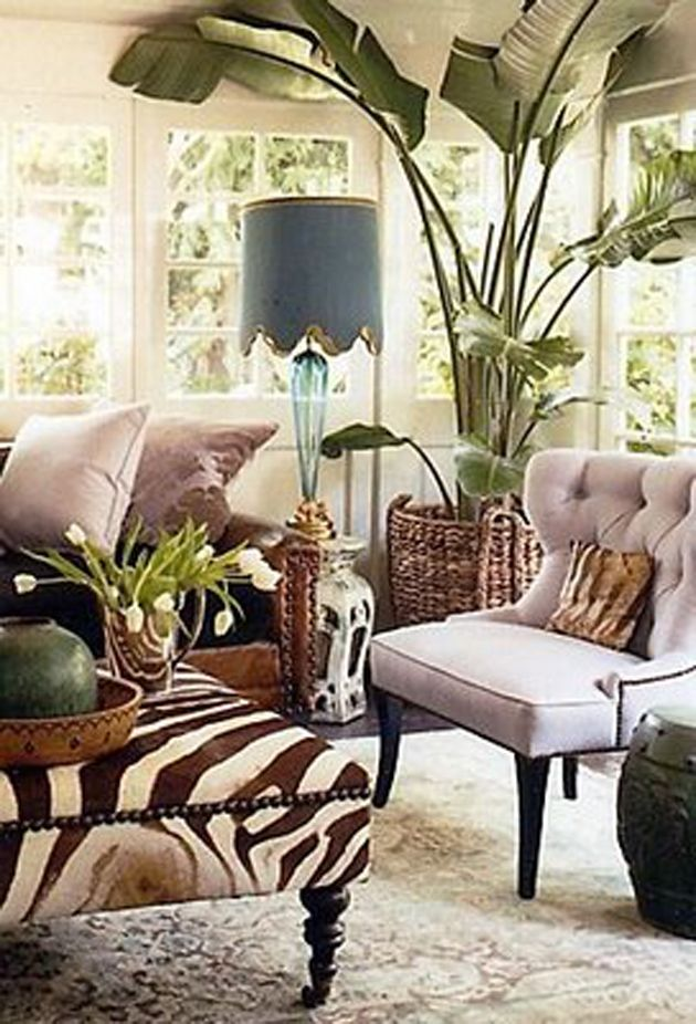 The wooden legs and style of automin is british while zebra print african also lamp love lamps pinterest palm interiors colonial rh