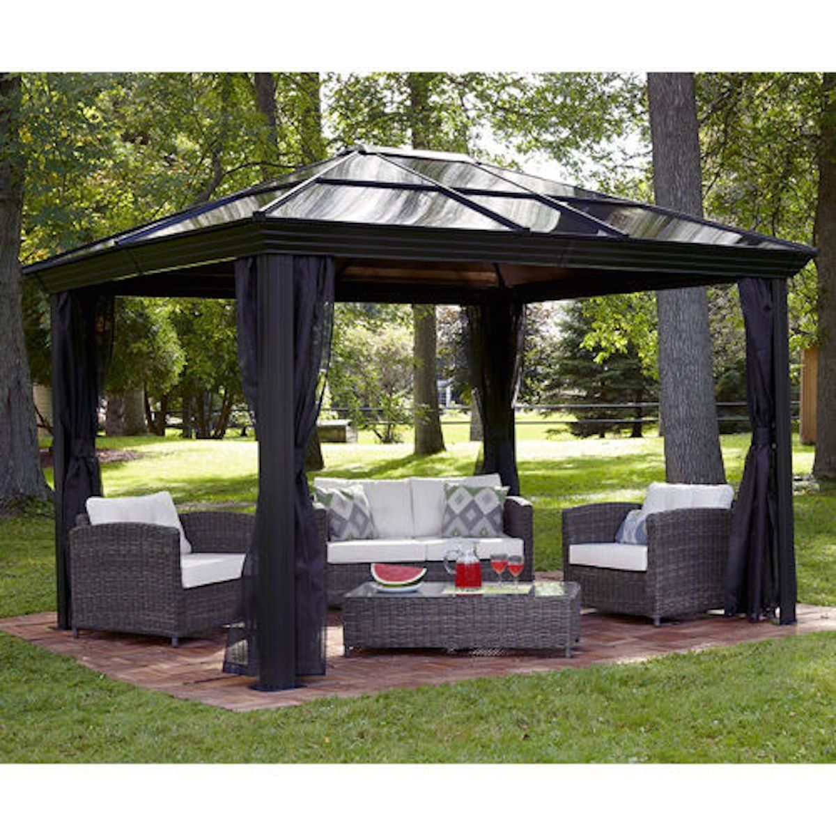 Gazebo Canopy. Pergola. This 10 x 12 Hardtop Gazebo Tent