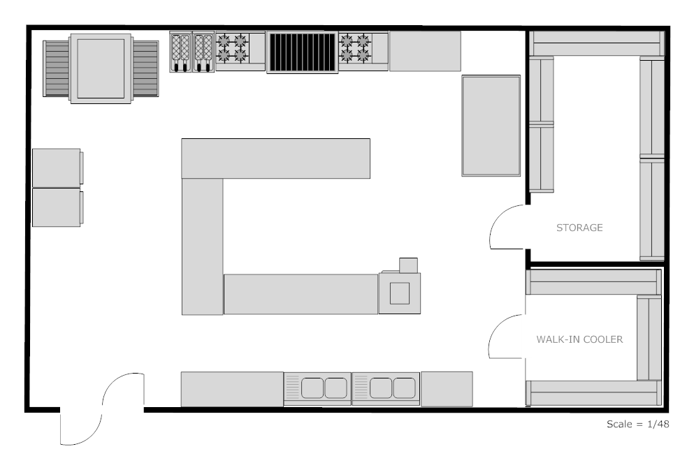 Kitchen Floor Plan Examples