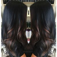 Ombre for dark hair // highlights for black hair