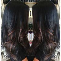 Ombre for dark hair // highlights for black hair | Hair  ...