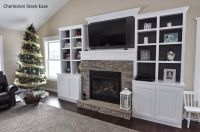 Stoned Fireplace with Built-ins. Charleston Stack-Ease J&N ...