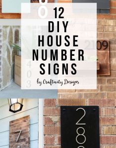 diy house number signs address sign street by craftivityd also numbers and rh pinterest
