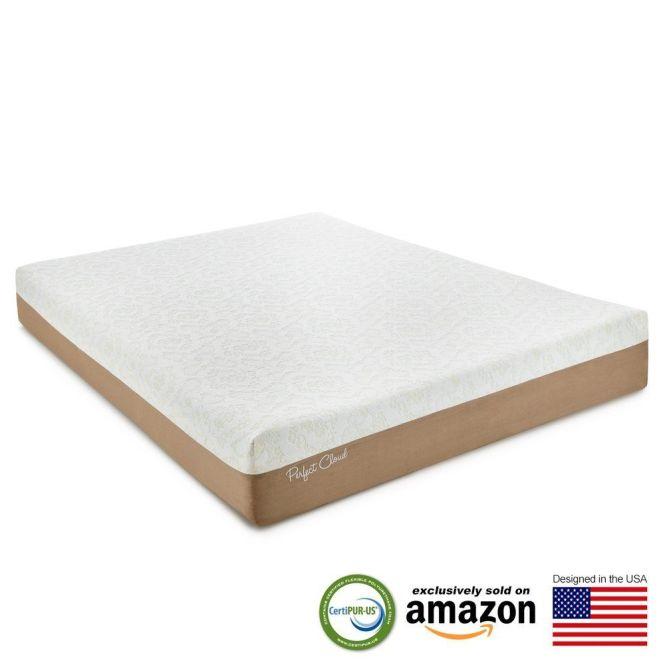 Perfect Cloud Atlas Gel Plus 10 Memory Foam Mattress Twin White