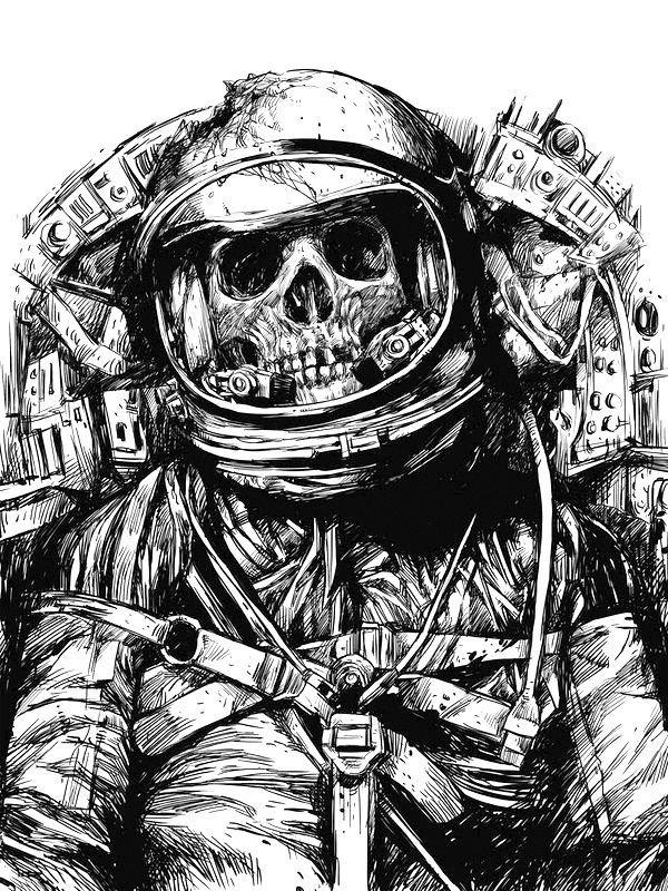 Astronaut Tumbler Drawings
