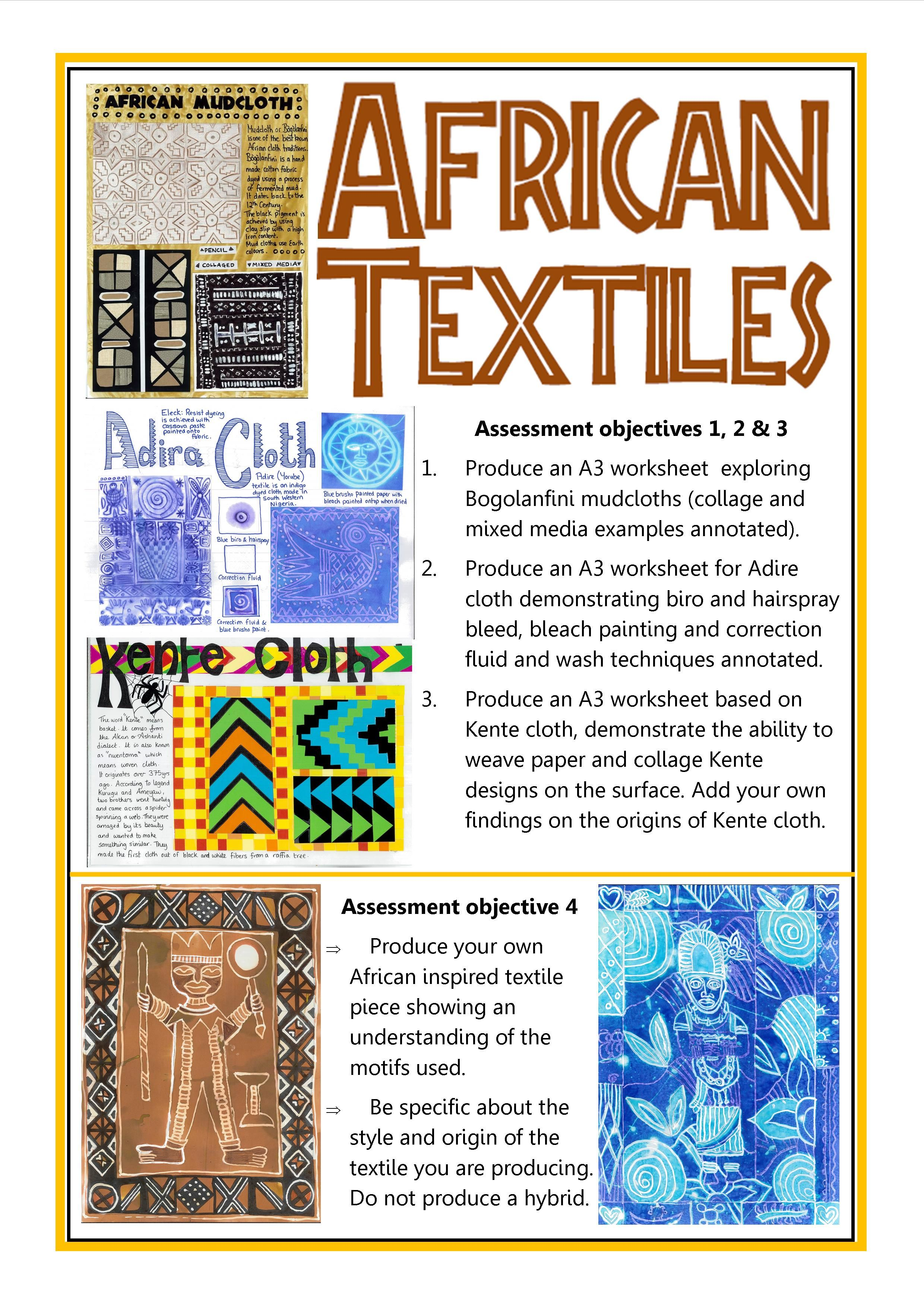 African Textiles Gcse Art Checklist