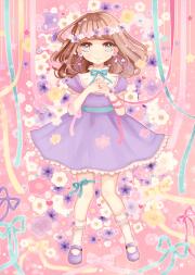 anime art pastel. . .ribbons