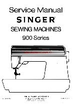 Singer 900 Service And Repair Sewing Machine Manual Series