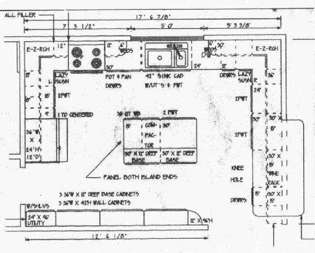 Large Kitchen Floor Plans