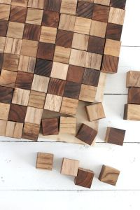 Create a wooden mosaic wall art with simple supplies you ...
