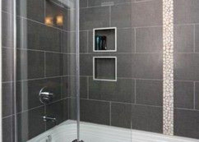Decorative tile in shower bathroom interior design by skd studios skdstudios com my dream home pinterest frameless glass  also doors