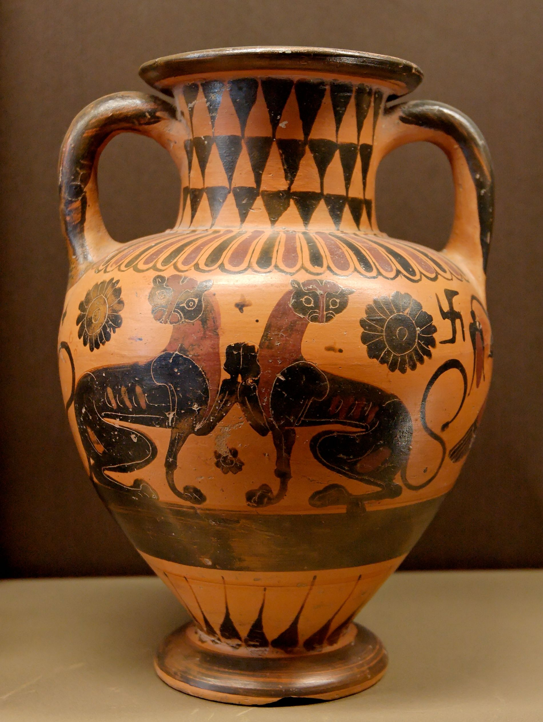 Animals Side B From A Black Figure Neck Amphora Ca 560