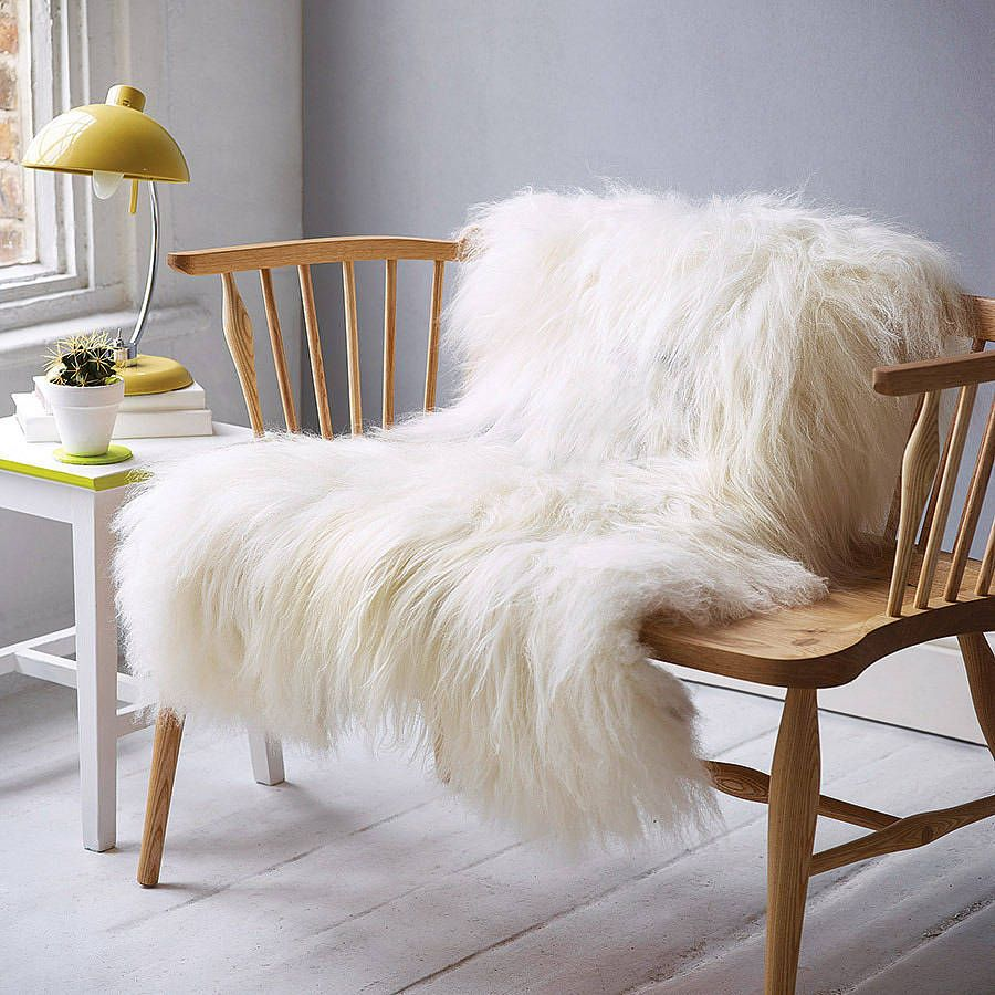 Icelandic Sheepskin Rug Assorted Colours  Shaggy Living