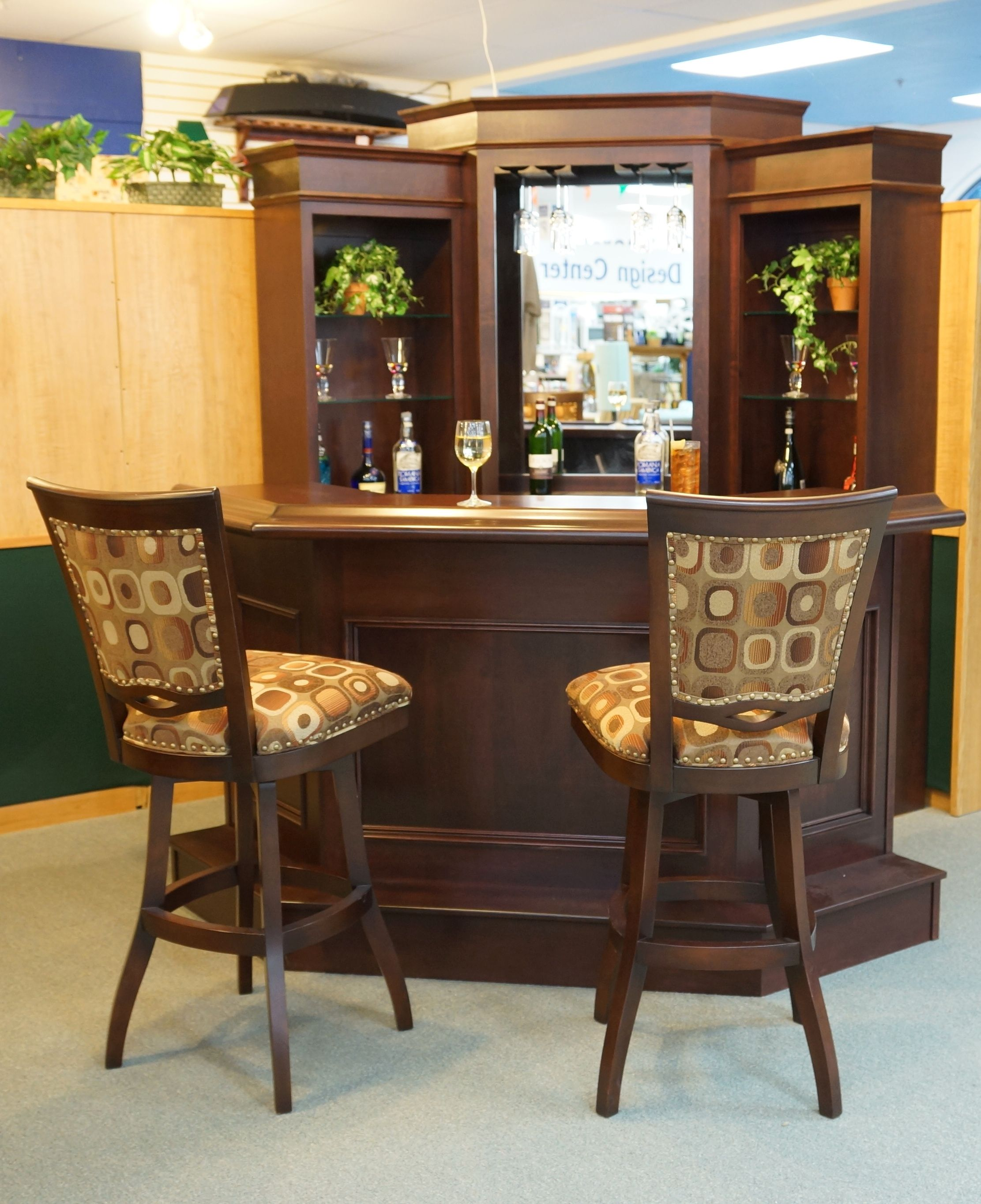 Corner Bar By Primocraft With Barstools By Tobias Designs Bar